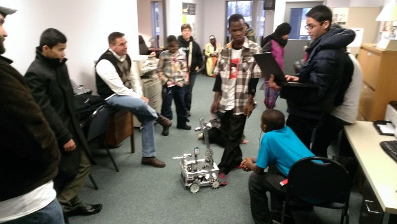 The Robotics Team, comprised of Utica City School district students, shows us their robot!